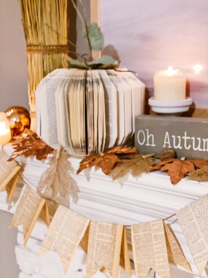 DIY Vintage Book Pumpkins